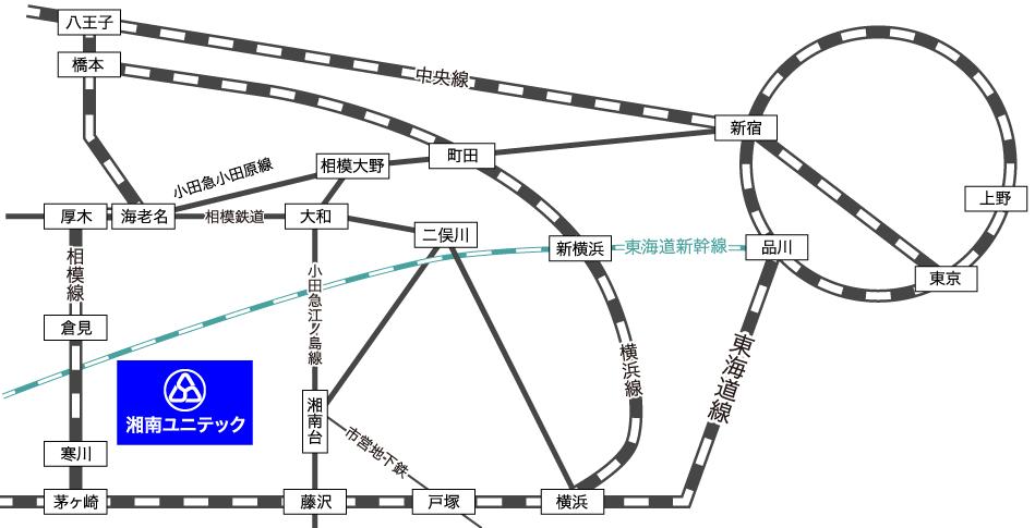 湘南ユニテック本社アクセスマップ