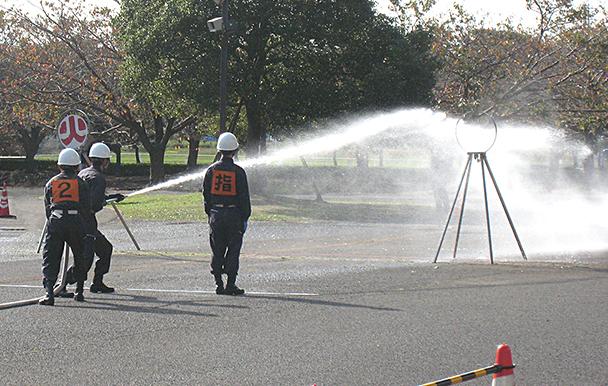 寒川町の消防訓練への参加